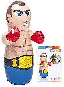 João Bobo Boneco Inflável Boxeador Intex Crianças Boxe