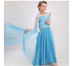 Fantasia G Elsa Frozen Para Crianças Cosplay Frozen 2 Disney