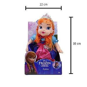 Boneca Bebê Anna Frozen 30cm Com Som Disney Meninas