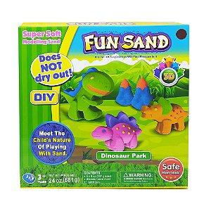 Massa Areia Dinossauros Fun Sand Com Acessórios