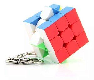 Chaveiro Cubo Mágico 3,5cm Clássico 3x3 Stickerless