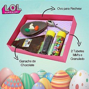 Kit Confeiteiro 130g Chocolate Belga LoL Páscoa Brinquedeiro