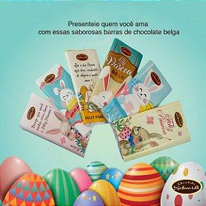 Barras de Chocolate Belga 100% ao Leite 35g Kit com 6 und