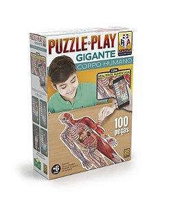 Quebra Cabeça Puzzle Play Corpo Humano Gigante Grow 03636