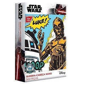 Quebra-cabeça Game Office Star Wars C-3PO e R2-D2 500 Peças