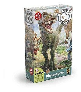Puzzle 100 Peças Dinossauros - Grow