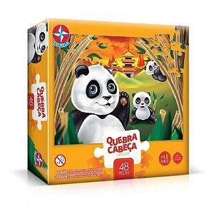 Quebra Cabeça Infantil Panda 48 Peças Estrela