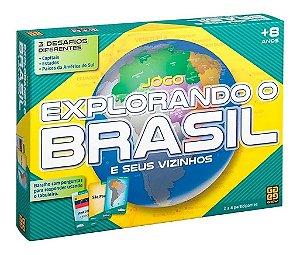 Jogo Explorando O Brasil - Jogo De Tabuleiro- Grow