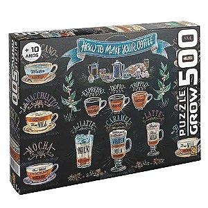 Quebra-Cabeça Café Gourmet 500 Peças- Grow