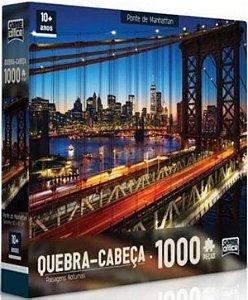 Quebra-Cabeça Ponte de Manhattan 1000 Peças - Game Office