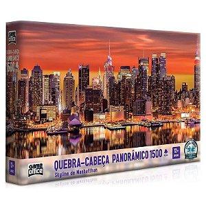 Quebra-Cabeça Skyline de Manhattan 1500 Peças - Game Office