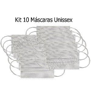 Kit 10 Máscaras de Tecido Poa Estampa Bolinhas Dupla Camada