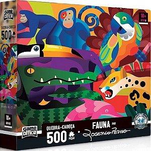 Quebra-Cabeça Fauna Rogerio Pedro 500 Peças - Game Office