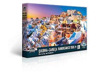 Quebra-Cabeça Pôr do Sol Santorini 1500 Peças - Game Office