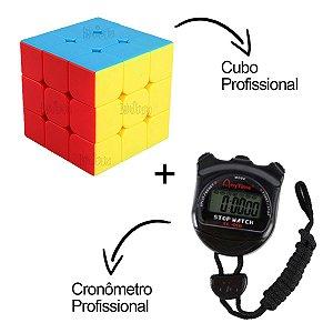 Cubo Mágico Profissional com Cronômetro para Medir seu Tempo