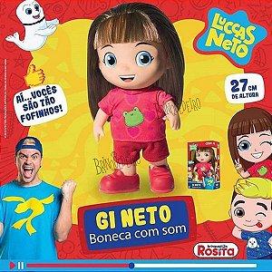 Boneca Gi Aventureira Com 14 Frases Luccas Neto Rosita 1073