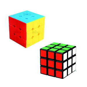 Cubo Mágico Profissional 3x3x3 Stickerless e 3x3x3 Clássico