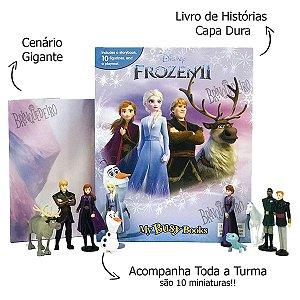 Livro Frozen 2 Poderes da Natureza com Miniaturas