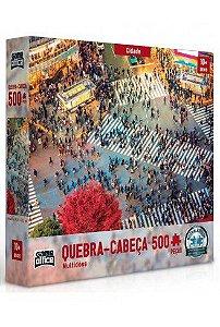 Quebra-Cabeça Cidade Multidões 500 Peças - Game Office