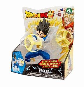 Brinquedo Lança e Gira Dragon Ball Super Vegeta - Bandai
