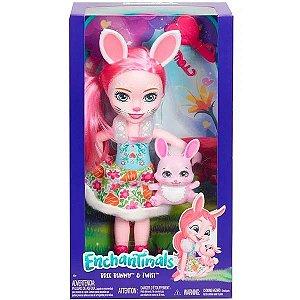 Boneca Enchantimals Bree Bunny e Twist - Mattel