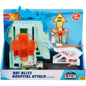 Pista Hot Wheels Ataques de Morcegos No Hospital - Mattel
