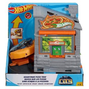 Pista Hot Wheels Ataque do Dino na Pizzaria  - Mattel