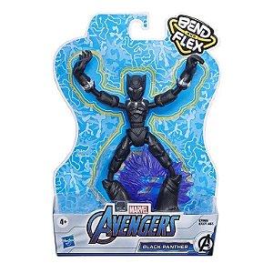 Boneco Pantera Negra Vingadores Marvel Bend and Flex Hasbro