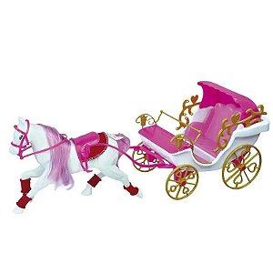 Brinquedo Carruagem Real de Bonecas Princesas Lider