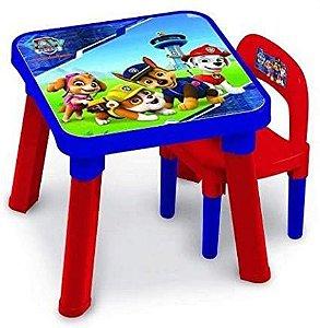 Patrulha Canina Mesa com Cadeira de Atividades Fun