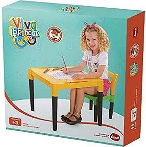 Mesinha Infantil com Cadeira Monta e Desmonta Viva Estudar