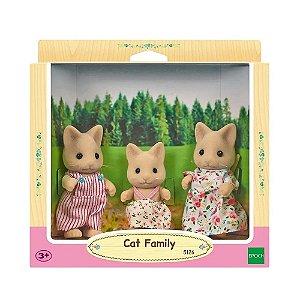 Bonecos de Gatos Família Sylvanian Colecionável