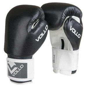 Luva De Boxe Preta Vollo Combat Original