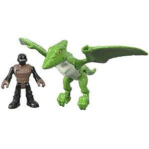 Dinossauro Verde Com Boneco Jurassic World Imaginext
