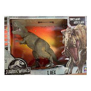 Dinossauro Articulado Jurassic World T-Rex 42Cm Mimo