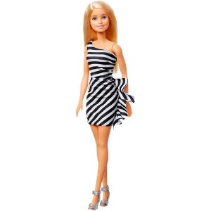 Boneca Barbie Loira Glitter 30cm Original Mattel