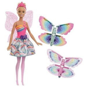 Boneca Barbie Fada Dreamtopia Com Asas 30cm Original Mattel