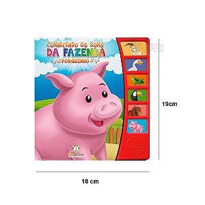 Livro Infantil Conhecendo os Sons da Fazenda Porquinho