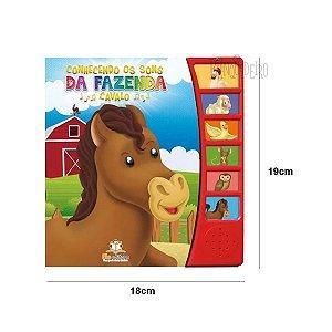 Livro Infantil Conhecendo os Sons da Fazenda Cavalo