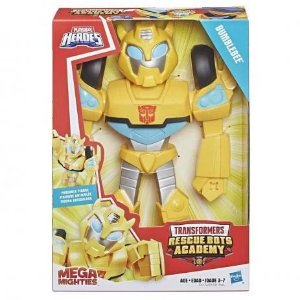 Boneco Transformers Bumblebee 25cm Heroes Mega Mighties
