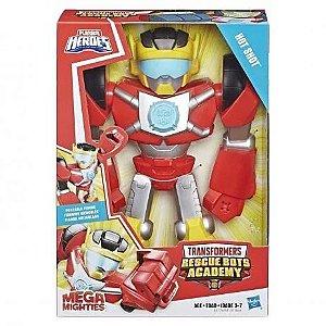 Boneco Transformers 25cm Hot Shot Heróis Mega Mighties