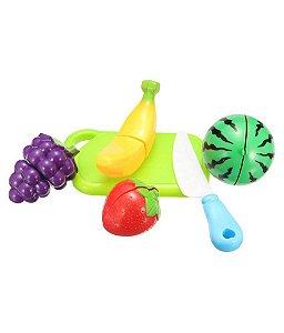 Frutinhas Crec Crec Coloridas 6 Frutas e Acessório