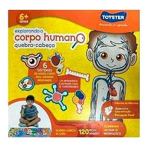 Jogo Quebra-cabeça Explorando Corpo Humano 120 Peças Grande