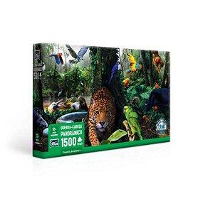 Jogo Quebra-Cabeça Floresta Amazônica 1500 Peças Game Office