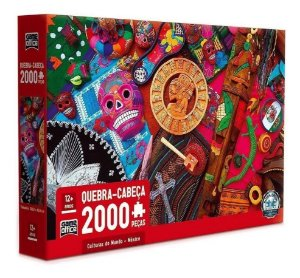 Jogo Quebra-Cabeça Culturas Do Mundo México 2000 Peças