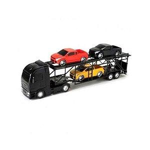 Carrinho de Brinquedo Diamond Truck Cegonheira Preto
