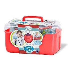 Brinquedo Maleta Vermelha Menino Doutor Completa