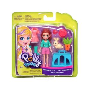 Brinquedo Boneca Polly Pocket Lila com Coelhinho