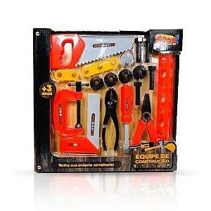 Brinquedo Kit de Ferramentas Equipe de Construção