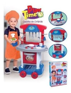 Kit Cozinha Infantil Colorida Grande Acessórios
